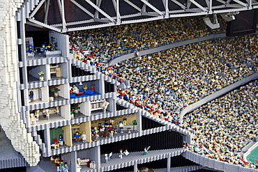 Model of the Allianz Arena, Legoland, Guenzburg, Bavaria, Germany