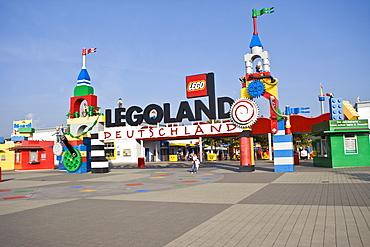Entrance, Legoland, Guenzburg, Bavaria, Germany