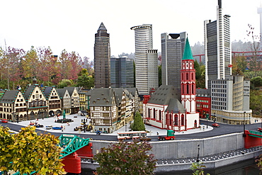 Model of Frankfurt, Legoland, Guenzburg, Bavaria, Germany