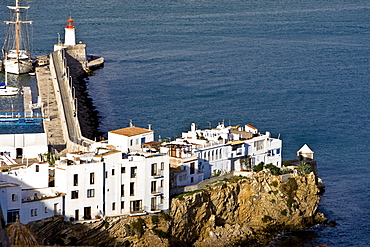 Old town of Eivissa, harbour, Ibiza, Baleares, Spain