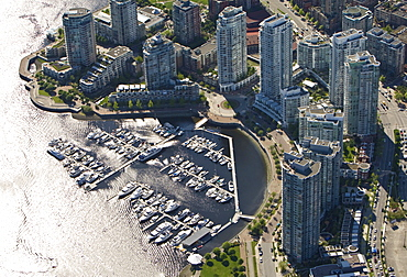 Marina at North False Creek, Vancouver, British Columbia, Canada, North America