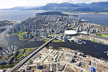 Vancouver Island with B.C. Place Stadium Vancouver, British Columbia, Canada, North America