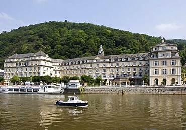 Haecker's Kurhotel, Spa Hotel, on the River Lahn, Bad Ems, Rhineland-Palatinate, Germany, Europe