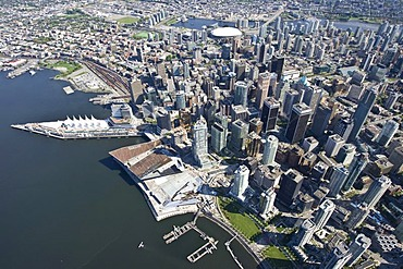 Vancouver skyline, British Columbia, Canada, North America