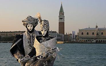 Portrait, Carnival in Venice, Person wearing mask Venice, Veneto, Italy