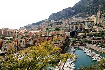 View on Monaco with harbor