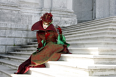Person wearing mask, Carnival in Venice, Venice, Italy, Europe