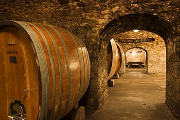Wurzburg wine cellar Burgerspital Franconia Bavaria Germany