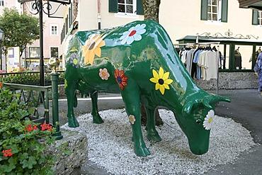 Sculpture of a cow in Bad Hofgastein - Salzburg - Austria