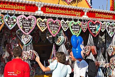 Gingerbread hearts Oktoberfest Munich