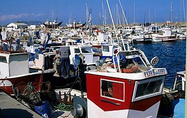 Garrucha fishing harbour Andalucia Almeria Spanien