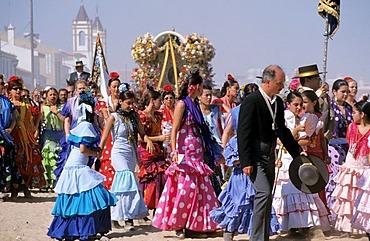 El Rocio El Rocio Romeria pilgrimage Fiesta - Costa de la Luz Andalusia Province Huelva Spain