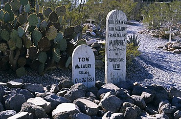 USA Arizona Tombstone Boot Hill Graveyard grave of Clanton and McLauries