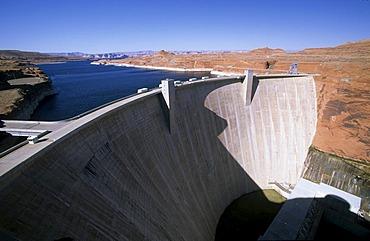 USA Arizona Glen Canyon Dam Lake Powell
