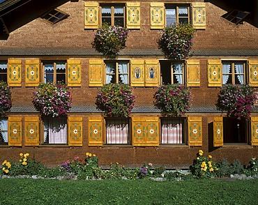 Typical house in Schoppernau Bregenzer Wald Vorarlberg Austria