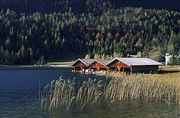 Lautersee lake near Mittenwald Upper Bavaria Germany