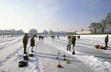 Curling Nymphenburg castle Munich Germany