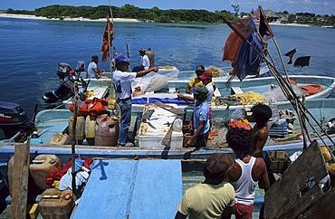 Champoton fishermen Campeche Mexico