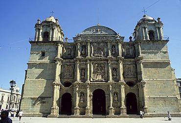 Mexico Oaxaca City cathedral