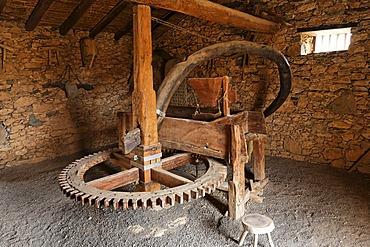 Flour mill in open-air museum in Tefia , Fuerteventura , Kanarische Inseln