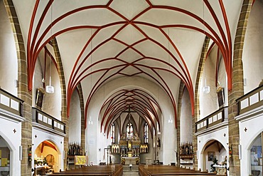 Gothic parish church St Jakob in Schwandorf - Upper Palatinate Bavaria Germany