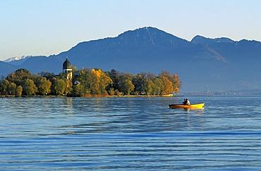Fraueninsel in Chiemsee lake Upper Bavaria Germany