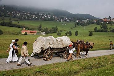 Historical Saeumer procession, Grafenau, Bavarian Forest, Lower Bavaria, Germany