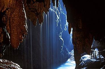Waterfall in Monasterio de Piedra, Aragon, Spain