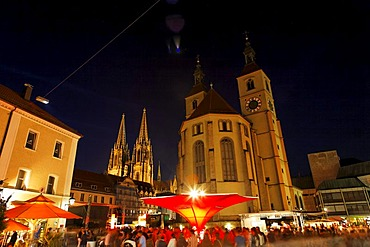 Neupfarrkirche church on Neupfarrplatz, cathedral, Regensburg, Upper Palatinate, Bavaria, Germany