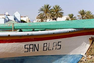 Fisher boat San Blas in Castillo del Romeral, Gran Canaria, Spain