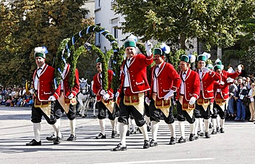 Traditional opening parade, Schaeffler, Oktoberfest, Munich beer festival, Bavaria, Germany