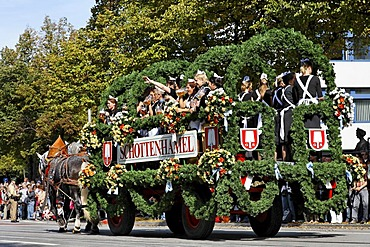 Traditional opening parade, Oktoberfest, Munich beer festival, Bavaria, Germany