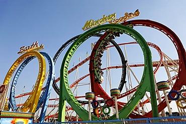 Oktoberfest, Munich beer festival, roller coaster, Bavaria, Germany