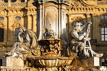 Franconia fountain, Tilman Riemenschneider, Wuerzburg, Franconia, Bavaria, Germany