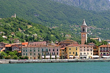 Porlezza on the shore of Lago di Lugano, Italy
