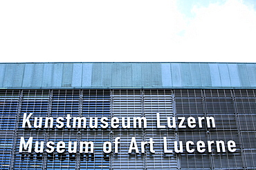Sign at the Culture and Convention Center KKL, Lucerne, Switzerland