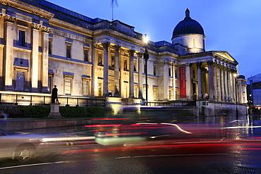 National Gallery at Trafalgar Square, London, UK
