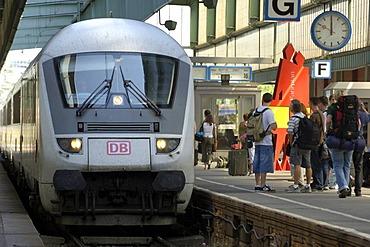 ICE in main station Stuttgart, Baden-Wuerttemberg, Germany