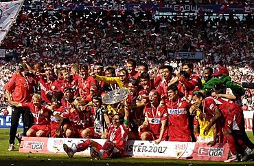 VfB Stuttgart Champion Bundesliga 2007, Stuttgart, Baden-Wuerttemberg, Germany