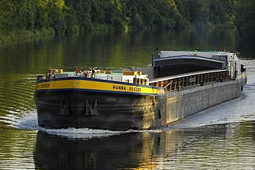 Navigation on river Neckar, Baden-Wuerttemberg, Germany