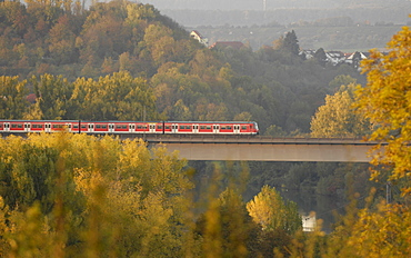 Public transport in Marbach, Baden-Wuerttemberg, Germany