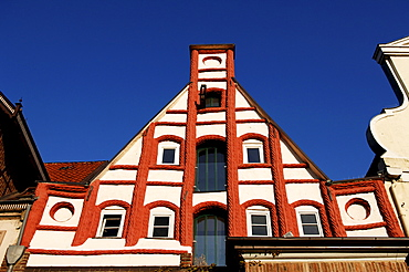 Gothic house gable, Lueneburg, Lower Saxony, Germany, Europe