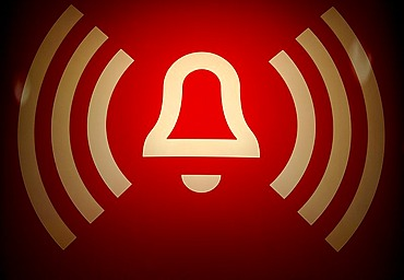 Emergency call character on a U-Bahnhof station, Berlin, Germany, Europe