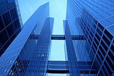 Facade of HighLight Towers, Munich-Schwabing, Munich, Bavaria, Germany, Europe