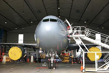 "Airplaine of the government ""Kurt Schumacher"", german airforce, airport Hamburg, Germany"