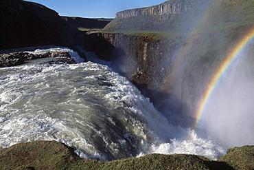 Gullfoss water falls in Haukadalur valley, Iceland