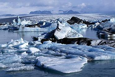 Glacier lake Joekulsarlon, Iceland