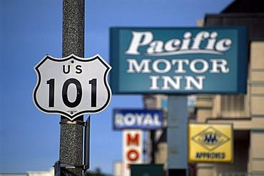 Motel, Monterey, California, USA
