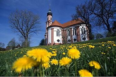 King Ludwig Tour, basilica, Vilgertshofen, Allgaeu, Bavaria, Germany