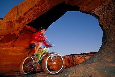 Mountain biker, Moab, Utah, USA